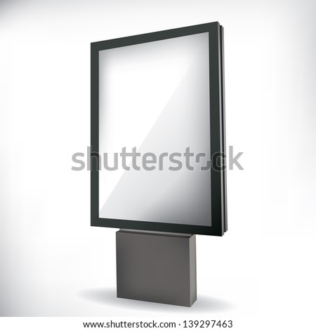 City light billboard - stock photo