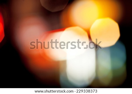 City lights. Background with blurring lights - stock photo