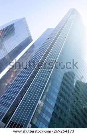 City - modern office buildings - stock photo