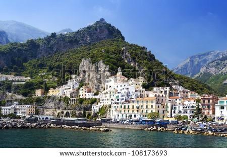 City of Amalfi, Italy - stock photo