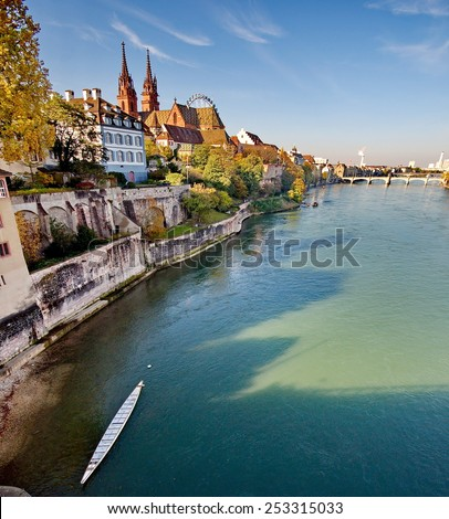 City of Basel in Switzerland - stock photo