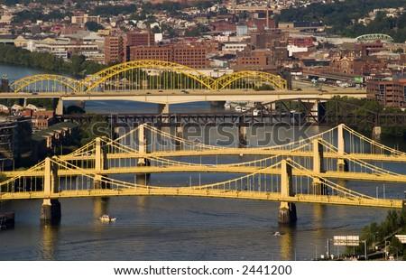 City of Bridges - stock photo