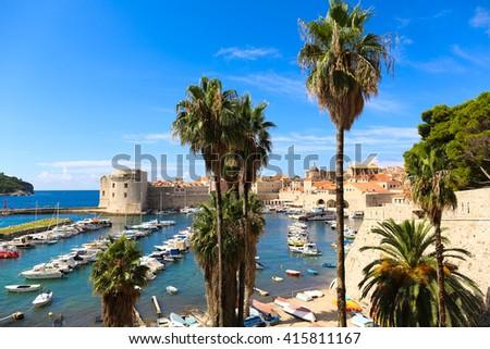 city of Dubrovnik in Croatia - stock photo