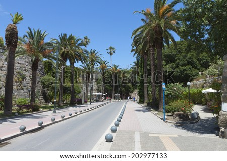 City of Kos island in Greece - stock photo