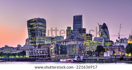 City of London  - stock photo
