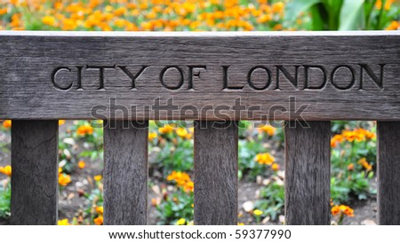 City of London, Bench - stock photo
