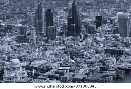 City of London. Leading center of global finance. - stock photo