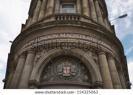 City of London Magistrates court building - stock photo
