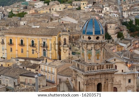 City of Ragusa, world heritage site - stock photo