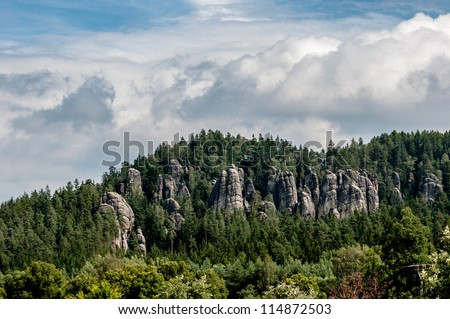 City of Rock Adrspach-Teplice, Czech Republic - stock photo