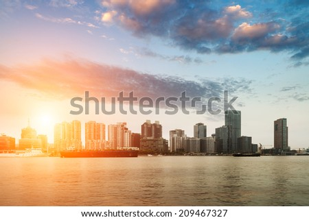 City of Shanghai, China - stock photo