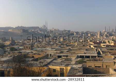 City of the Dead in Cairo Egypt - stock photo