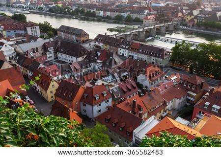 City of Wurzburg, Germany - stock photo