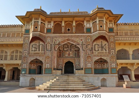 City palace in Jaipur during the sunny day, India. - stock photo