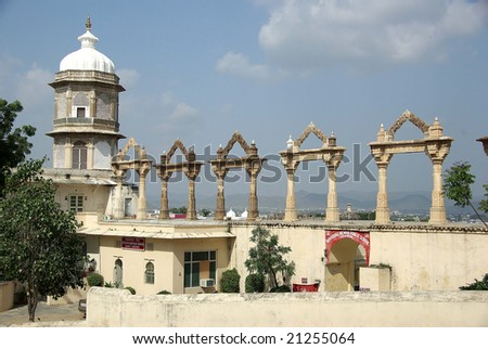 City Palace in Udaipur, Rajasthan - stock photo