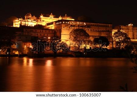 City Palace Night - stock photo