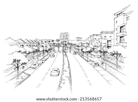 City panorama-2 - stock photo
