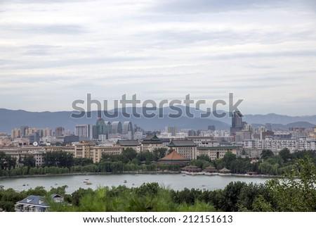 City panorama Beijing  - stock photo