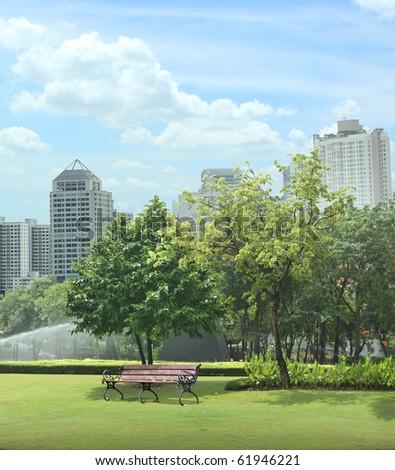 City parks - stock photo