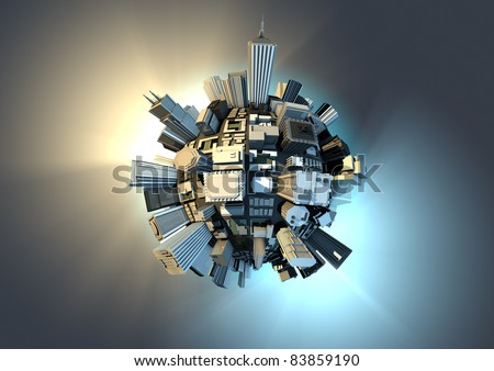 City planet - stock photo
