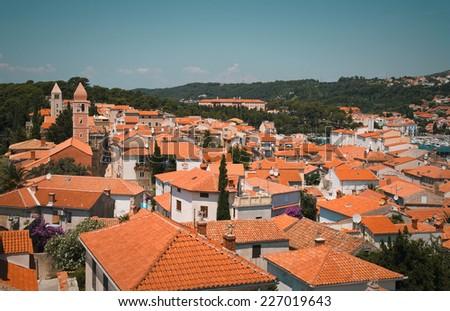 City Rab in Croatia - stock photo