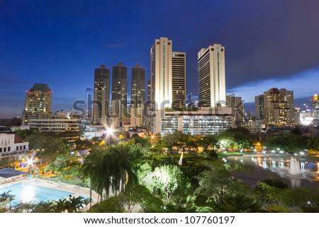 City Scape in Bangkok - stock photo