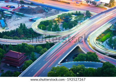 City Scape of nanchang city at china - stock photo