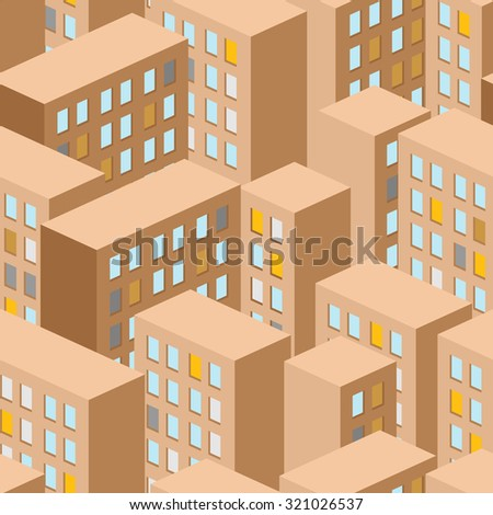 City seamless pattern. City panorama. background buildings are houses. - stock photo