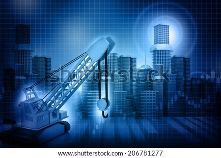 City skyline Construction  - stock photo