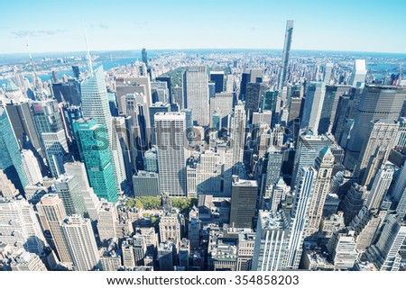 City skyscrapers. - stock photo