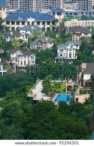 City somewhere in the community - stock photo