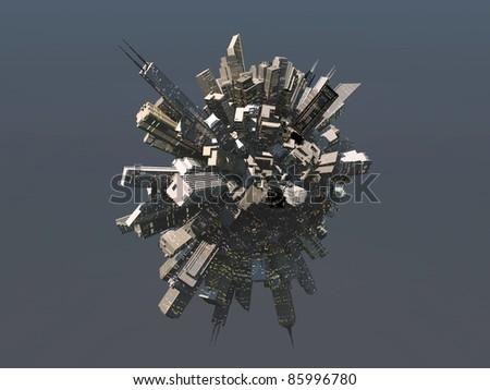 City sphere - stock photo