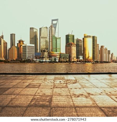 City Square at shanghai,china - stock photo