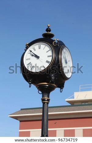 City square clock - stock photo
