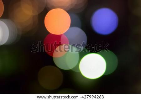 City Street Light Colorful Bokeh Background - stock photo