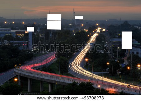 City streets and white space. For billboards - stock photo