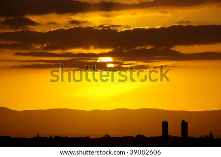 City Sunset - stock photo