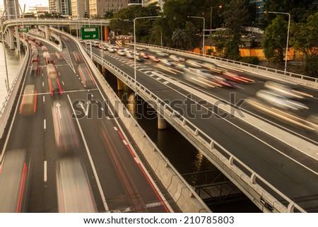 City Traffic congestion - stock photo