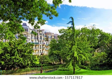 City, urban  view of Paris.France - stock photo
