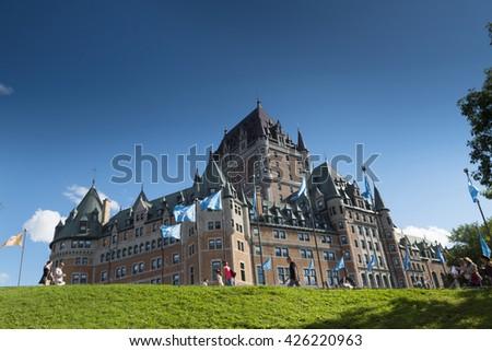 City View. Old Quebec. Quebec City. Quebec. Canada - stock photo