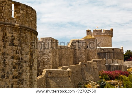 City Walls of Dubrovnik, Croatia - stock photo