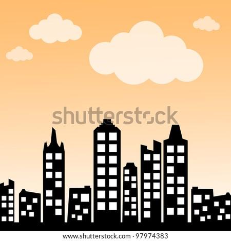 Cityscape background - stock photo