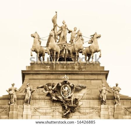 Cityscape in Brussels Europe - landmark of Brussels - stock photo