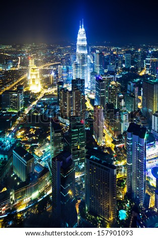 Cityscape in Kuala Lumpur - stock photo