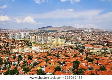 cityscape of Ankara, Capital city of Turkey - stock photo