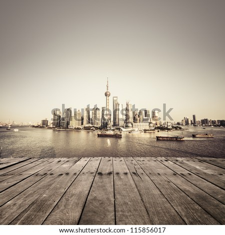 cityscape of modern city - stock photo