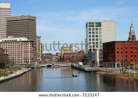 cityscape of Providence, RI - stock photo