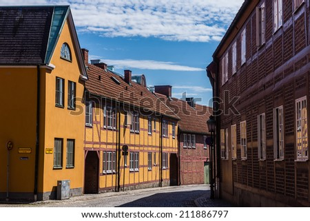 Cityscape of Ystad, Scania region, Sweden. - stock photo