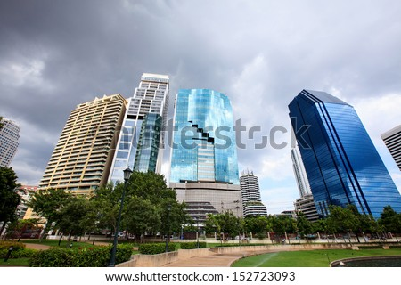Cityscape office building. - stock photo