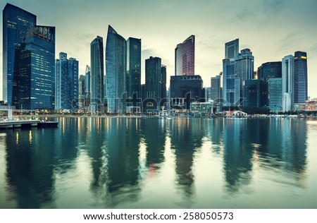 Cityscape Singapore - stock photo